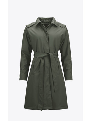 Rains W Trench Coat Groen