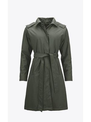 Rains W Trench Coat Vert