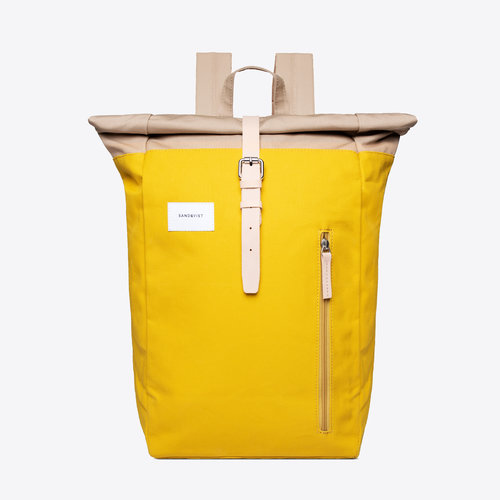 Sandqvist Dante Backpack Multi Yellow Beige