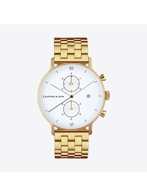 Kapten and Son Chrono Gold Steel Watch
