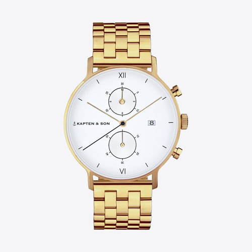 Kapten and Son Chrono Gold Steel