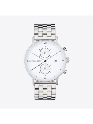 Kapten and Son Chrono Silver Steel Horloge