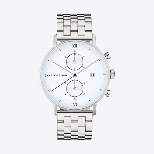 Kapten and Son Chrono Silver Steel