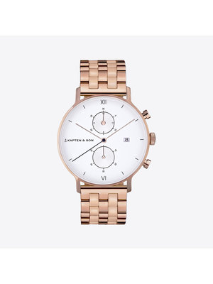 Kapten and Son Chrono Small Steel Horloge