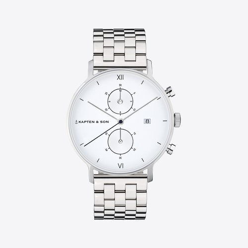 Kapten and Son Chrono Small Silver Steel