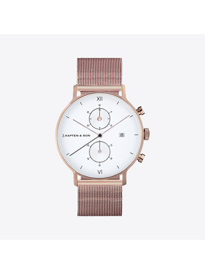 Kapten and Son Chrono Small Mesh Watch