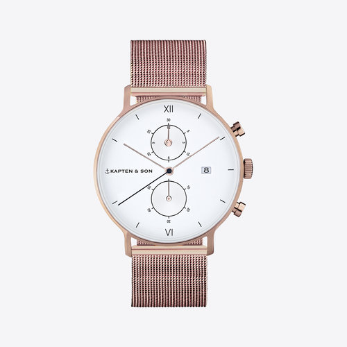 Kapten and Son Chrono Small Mesh Horloge