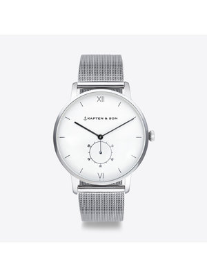 Kapten and Son Heritage Silver Mesh Watch