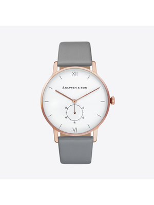Kapten and Son Heritage Ash Grey Leather Watch