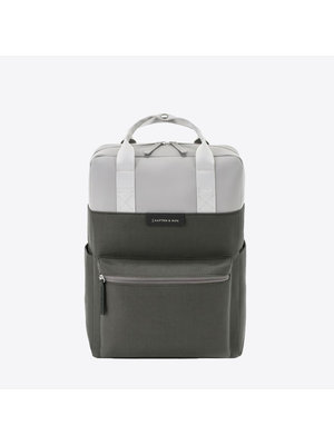 Kapten and Son Bergen Grey Black Backpack