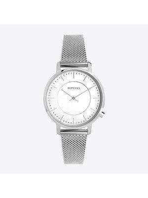 Komono Harlow Silver Mesh Horloge