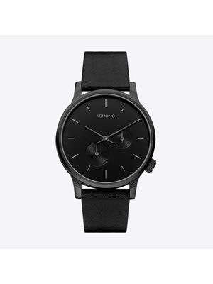 Komono Winston Double Subs Black Horloge
