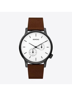 Komono Winston Double Subs White Watch