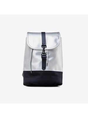 Rains Drawstring Backpack Silver