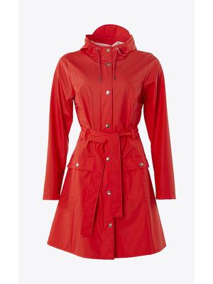 Rains Curve Jacket Red Impermeabile
