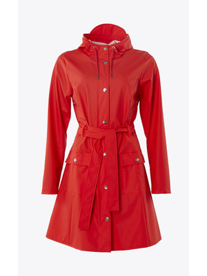 Rains Curve Jacket Red Raincoat