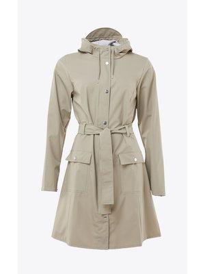 Rains Curve Jacket Beige Impermeable