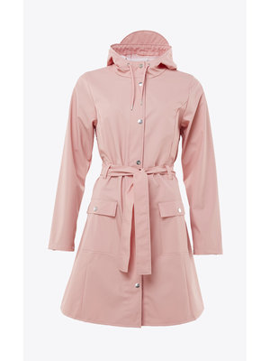 Rains Curve Jacket Coral Raincoat