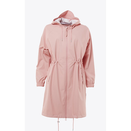 Rains Long W Jacket Coral