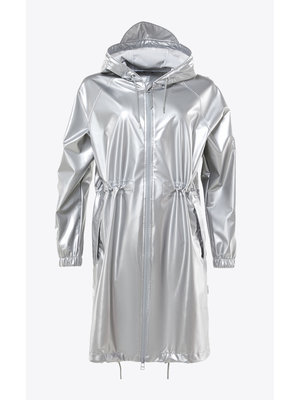 Rains Long W Jacket Silver