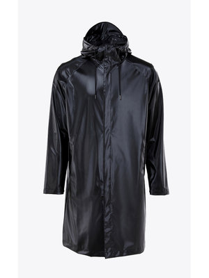 Rains Coat Shiny Black Raincoat