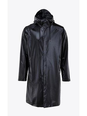 Rains Coat Shiny Black Regenjas