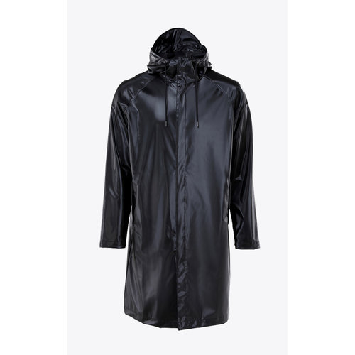 Rains Coat Shiny Black