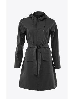 Rains Belt Jacket Black Impermeable