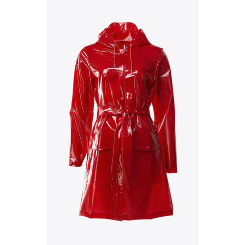 Rains Transparant Belt Jacket Glossy Red