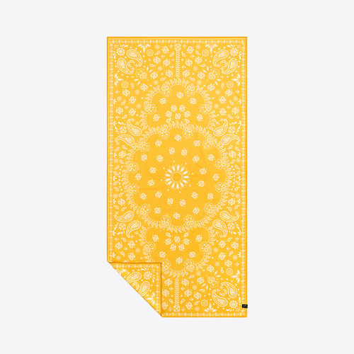 Slowtide Travel Towel Paisley Park Yellow