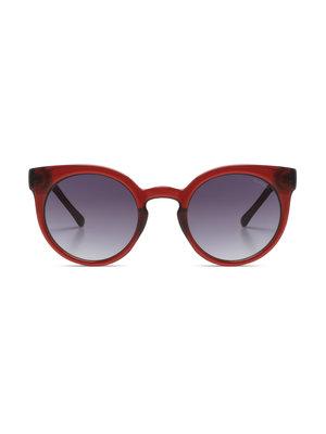 Komono Lulu Burgundy Sunglasses