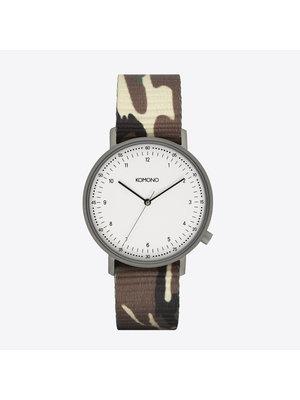 Komono Lewis Camo Woodland Watch