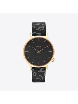 Komono Harlow Animal Black Horloge