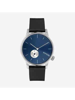 Komono Winston Subs Silver Blue Watch