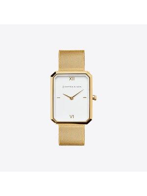 Kapten and Son Grace Gold Mesh Horloge