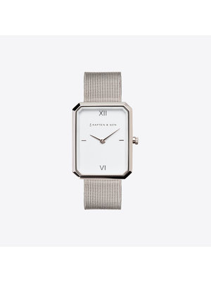 Kapten and Son Grace Silver Mesh Horloge