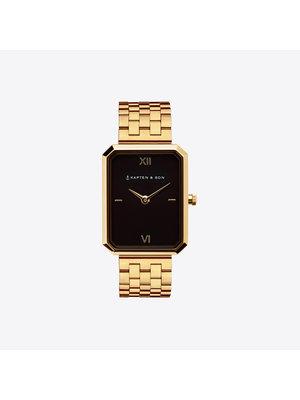 Kapten and Son Grace Gold Black Steel Horloge