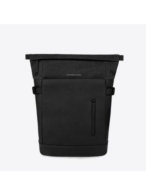 Kapten and Son Aarhus All Black Backpack