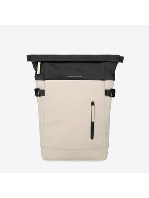 Kapten and Son Aarhus Cream Black Backpack