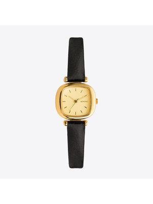 Komono Moneypenny Gold Black Horloge