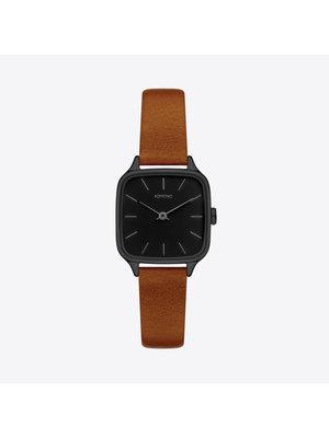 Komono Kate Black Cognac Watch