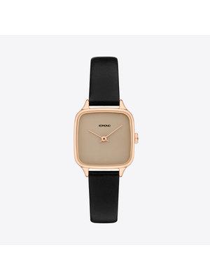 Komono Kate Black Rose Watch