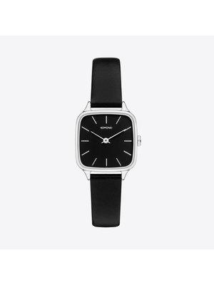 Komono Kate Black Silver Watch
