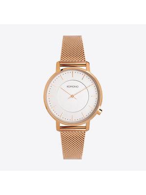 Komono Harlow Rose Gold Mesh Horloge