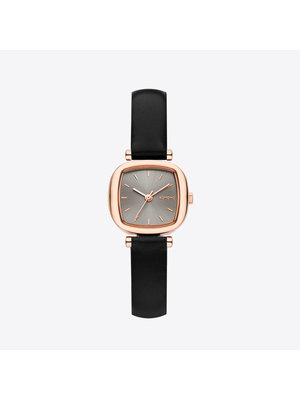 Komono Moneypenny Black Rose Horloge