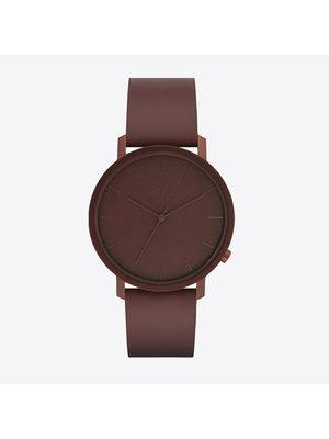Komono Lewis Monochrome Burgundy Horloge