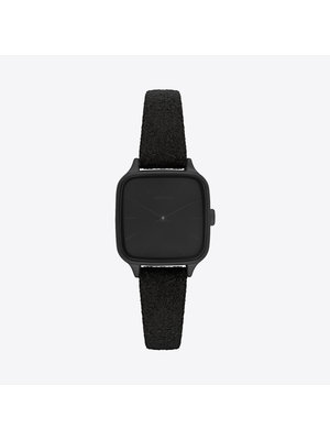 Komono Kate Black Suede Horloge