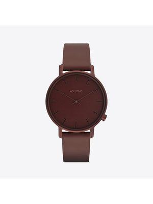 Komono Harlow Monochrome Burgundy Watch