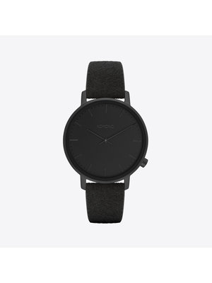 Komono Harlow Black Suede Horloge