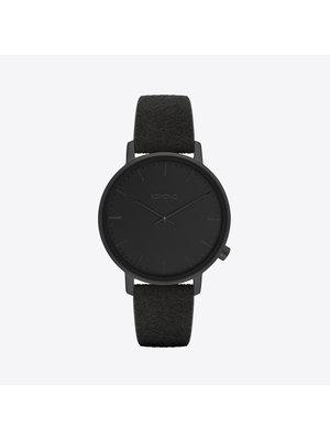 Komono Harlow Black Suede Watch